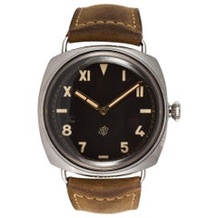 Panerai stainless steel Radiomir California 3 Day Acciaio Manual Wristwatch