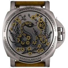Panerai Steel Luminor Sealand Year of the Snake Ltd Ed PAM00842 Automatic Watch