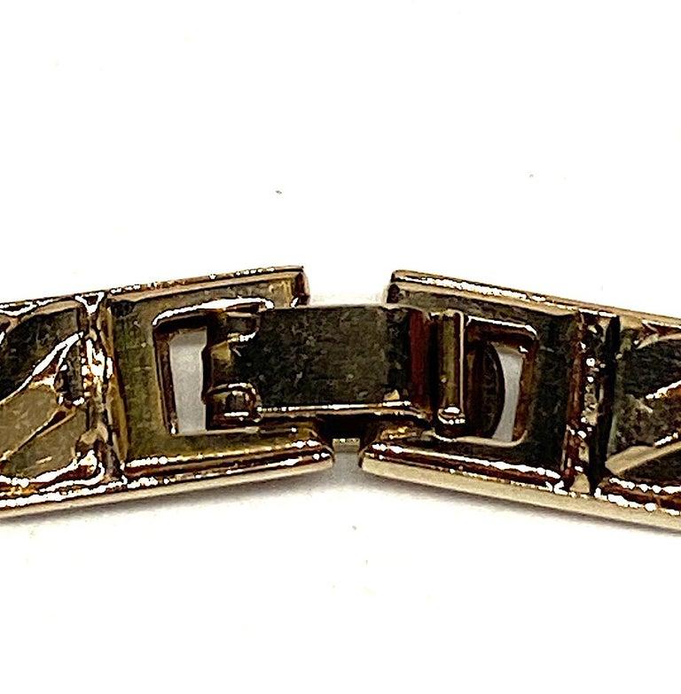Panetta Gold & Rhinestone Heart Necklace circa 1980 For Sale 8