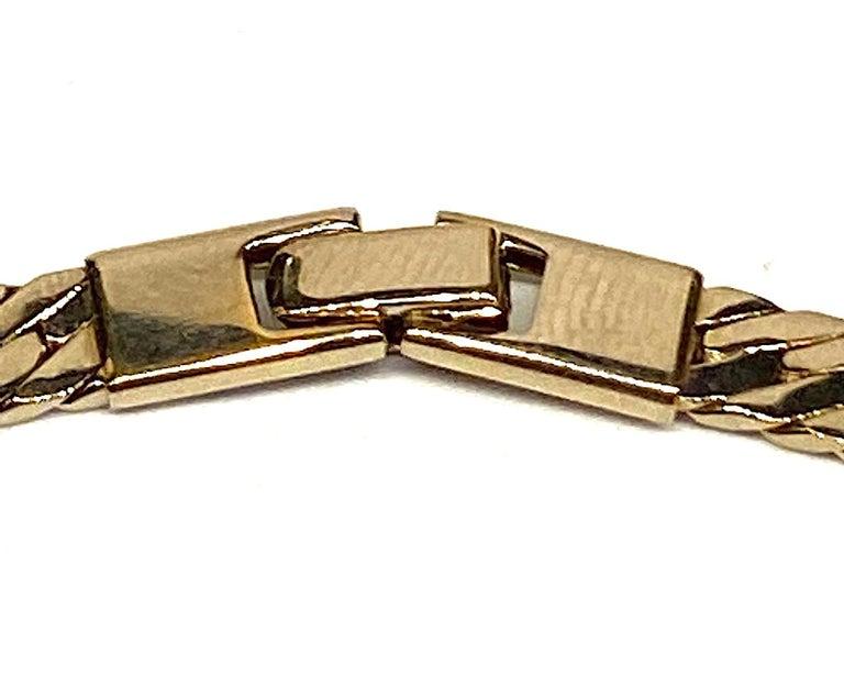 Panetta Gold & Rhinestone Heart Necklace circa 1980 For Sale 5