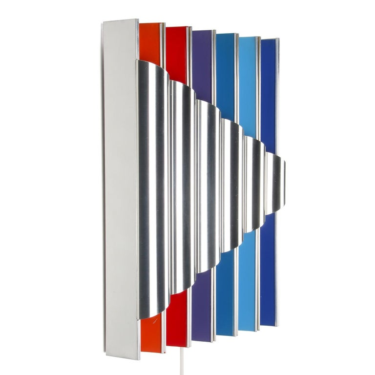 Scandinavian Modern Panflute Extremely Rare Wall Piece by Bent Karlby 1968 Lyfa For Sale