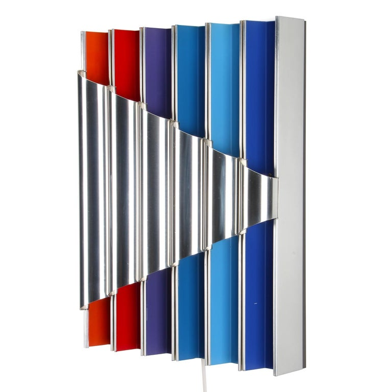 Panflute Extremely Rare Wall Piece by Bent Karlby 1968 Lyfa In Good Condition For Sale In Brondby, Copenhagen
