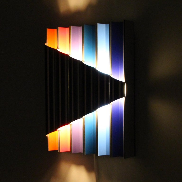 Mid-20th Century Panflute Extremely Rare Wall Piece by Bent Karlby 1968 Lyfa For Sale