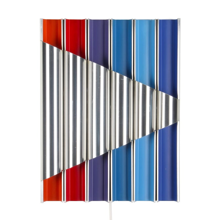Panflute Extremely Rare Wall Piece by Bent Karlby 1968 Lyfa For Sale