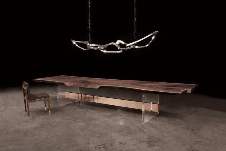 Description: Pangea chandelier SS large