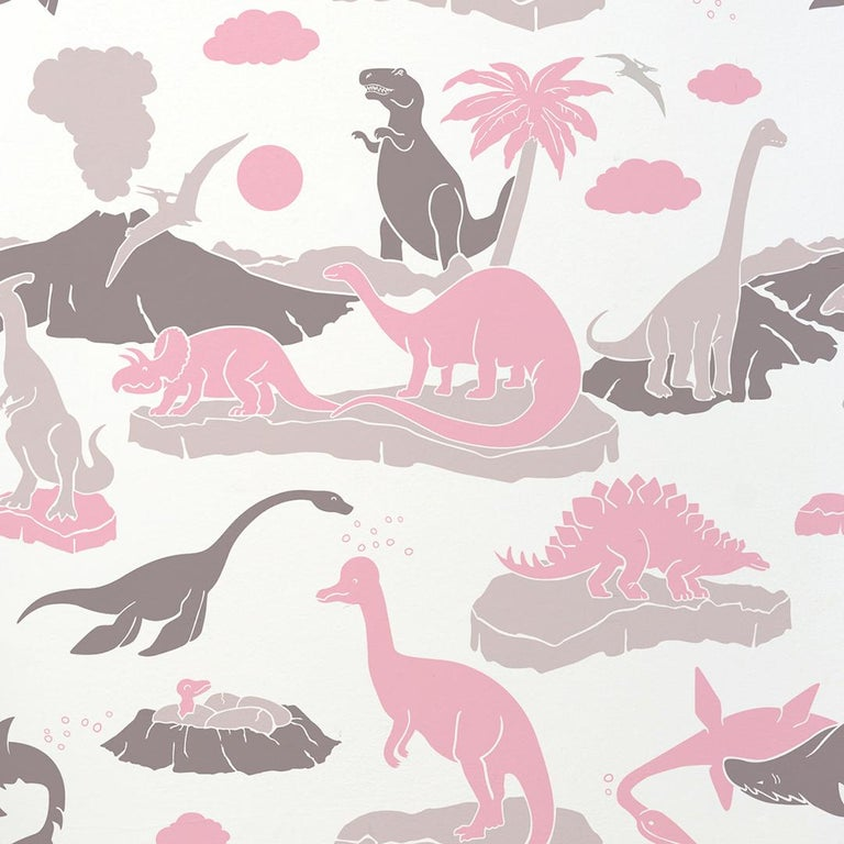 Pangaea Designer Dinosaur Wallpaper In Blush Pink Warm Grey And Brown For Sale At 1stdibs Picturesque aesthetics pastel pink and grey aesthetic requested by. pangaea designer dinosaur wallpaper in blush pink warm grey and brown