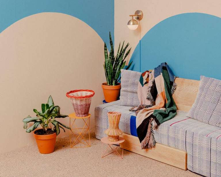 Modern Pangea Woven Throw by Studio Herron For Sale
