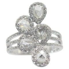 Panim 1.30 Carat Ring with Diamond Rosecut in 18 Karat White Gold
