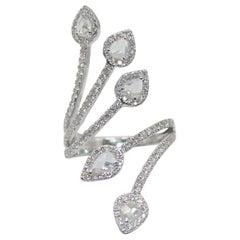 Panim 1.41 Carat Ring with Diamond Rosecut in 18 Karat White Gold