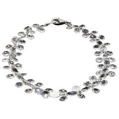Panim 8 Carat Oval Round Rose Cut Diamond Dangling Bracelet in 18 Karat Gold