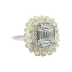 Panim 8.40 Carat Briolette and Illusion Cut Diamond Cocktail Ring in 18k Gold