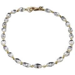 Panim Diamond Briolette Link Chain 18 Karat Yellow Gold Bracelet