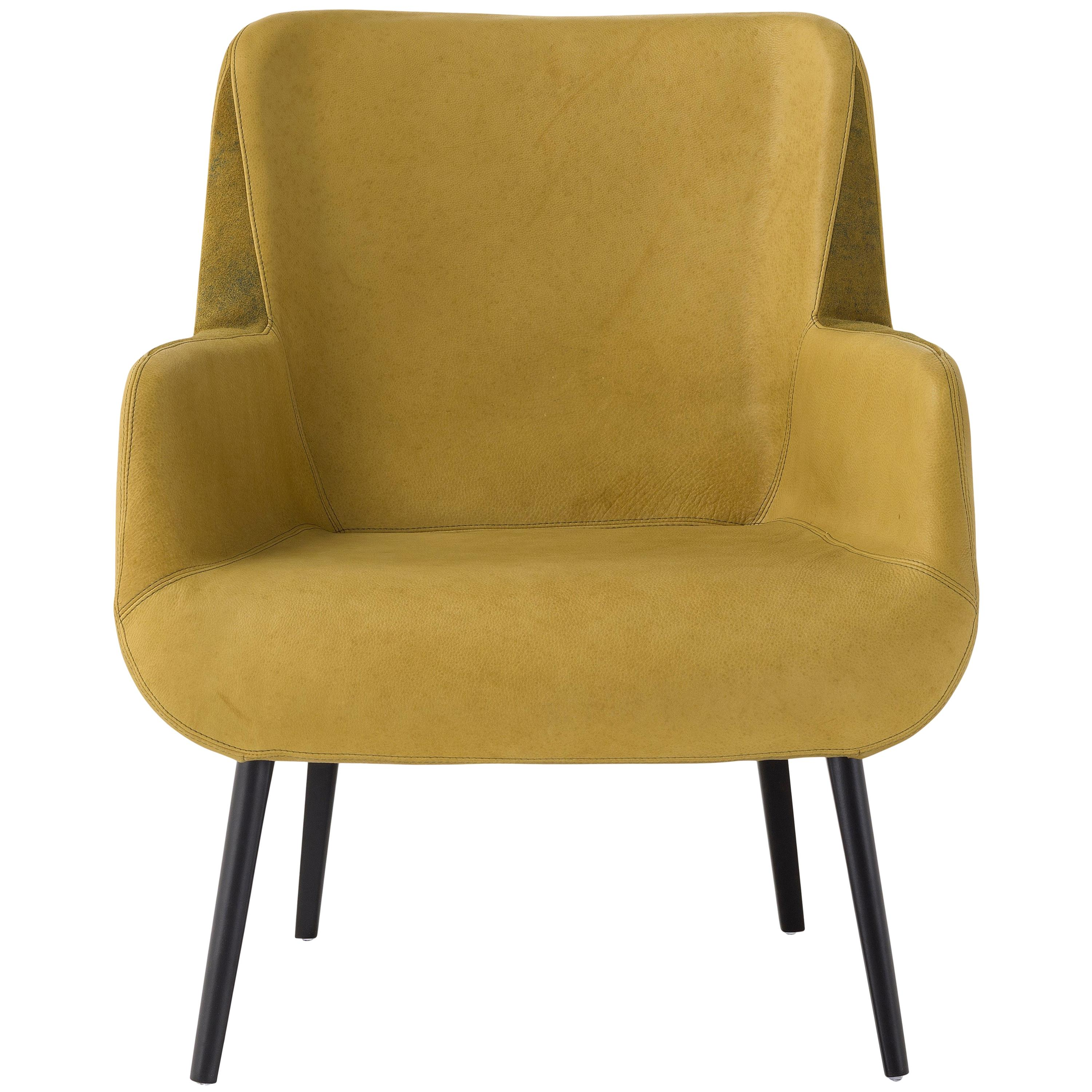 Yellow leather chair Old 1stdibs Yellow Leather Chairs 102 For Sale On 1stdibs
