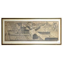 Panoramic Garden View Etching by Michael Wening