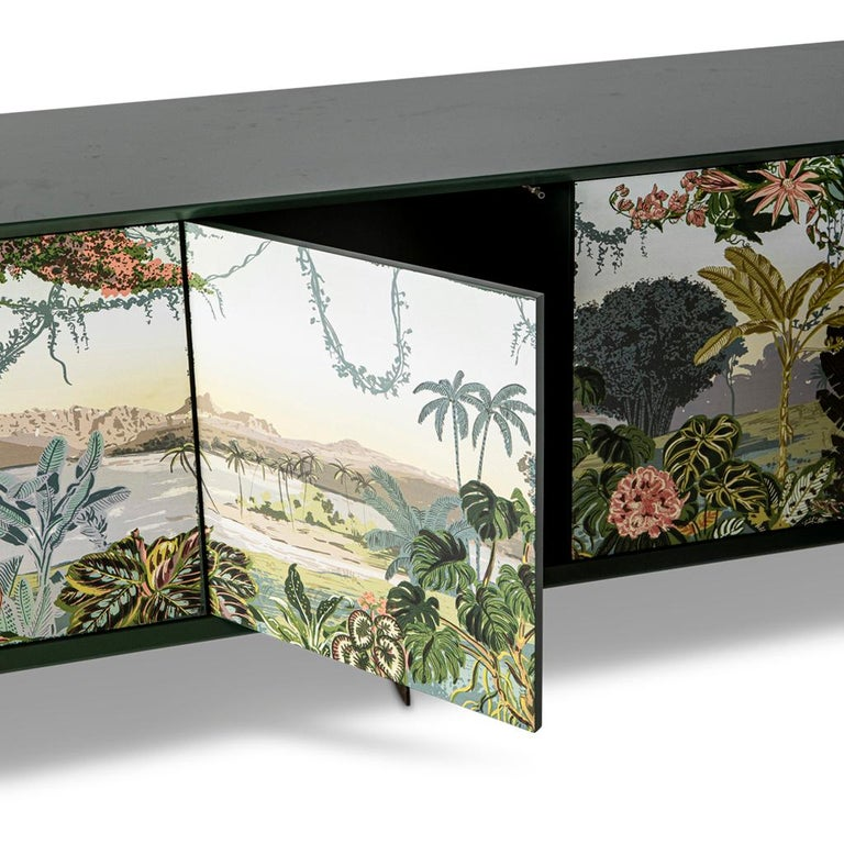 Panoramic Trompe L'Oeil Modern Sideboard Server Cabinet by Egg Designs In New Condition For Sale In Bothas Hill, KZN