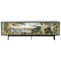Panoramic Trompe L'Oeil Modern Sideboard Server Cabinet by Egg Designs