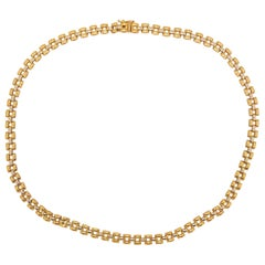 Panther Chain Necklace, Panther Chain 14 Karat Yellow Gold and White Gold