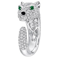 Panther White Gold Diamond Ring