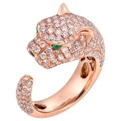 Panther Pink Diamond Ring 2.52 Carats