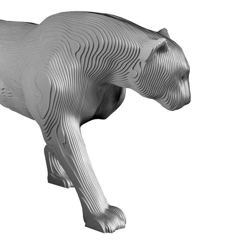 Belgian Panther Polished Sculpture For Sale