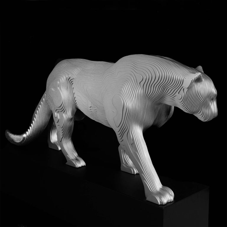 Panther Polished Sculpture In New Condition For Sale In Paris, FR