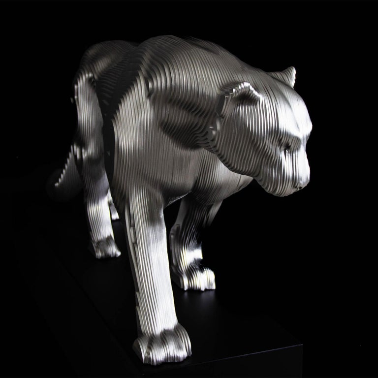 Contemporary Panther Polished Sculpture For Sale
