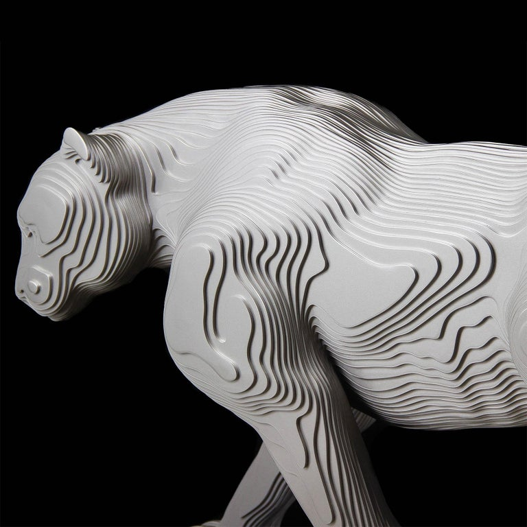 Panther Polished Sculpture For Sale 1