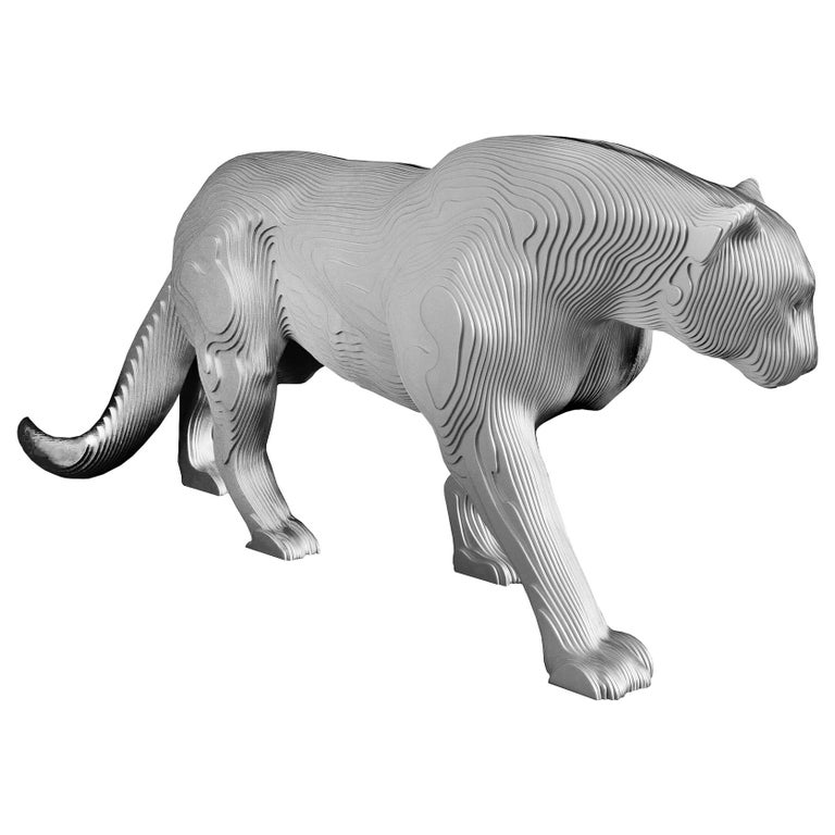 Panther Polished Sculpture For Sale