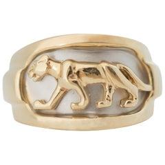 Panther Ring in 14 Karat Gold