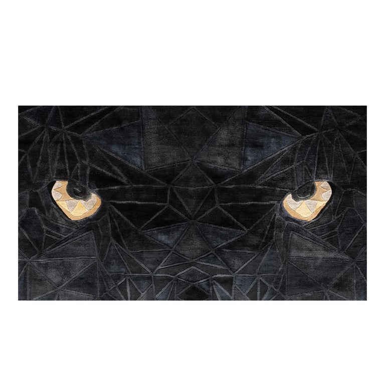Modern Panther Rug by Illulian Design Studio For Sale