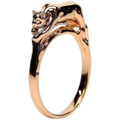 Panther Stackable Ring Rose Gold