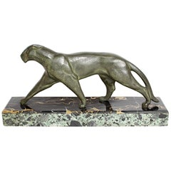 'Panthére' an Art Deco Bronze Sculpture by Michel Decoux, circa 1920