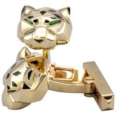 Panthère De Cartier 18 Karat Gold Cufflinks