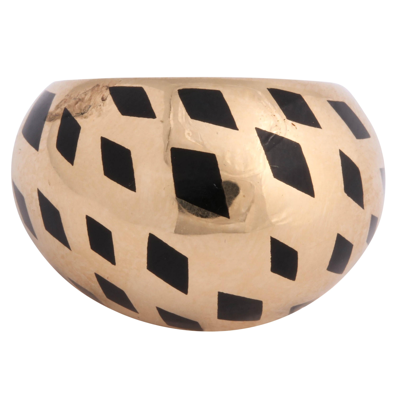 Panthere de Cartier Black Enamel Dome Ring