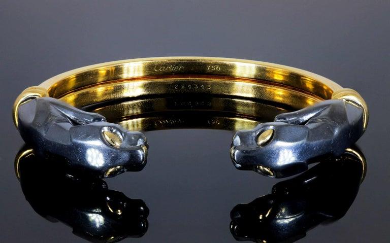 Panthere de Cartier Collection Gold Bracelet For Sale 1