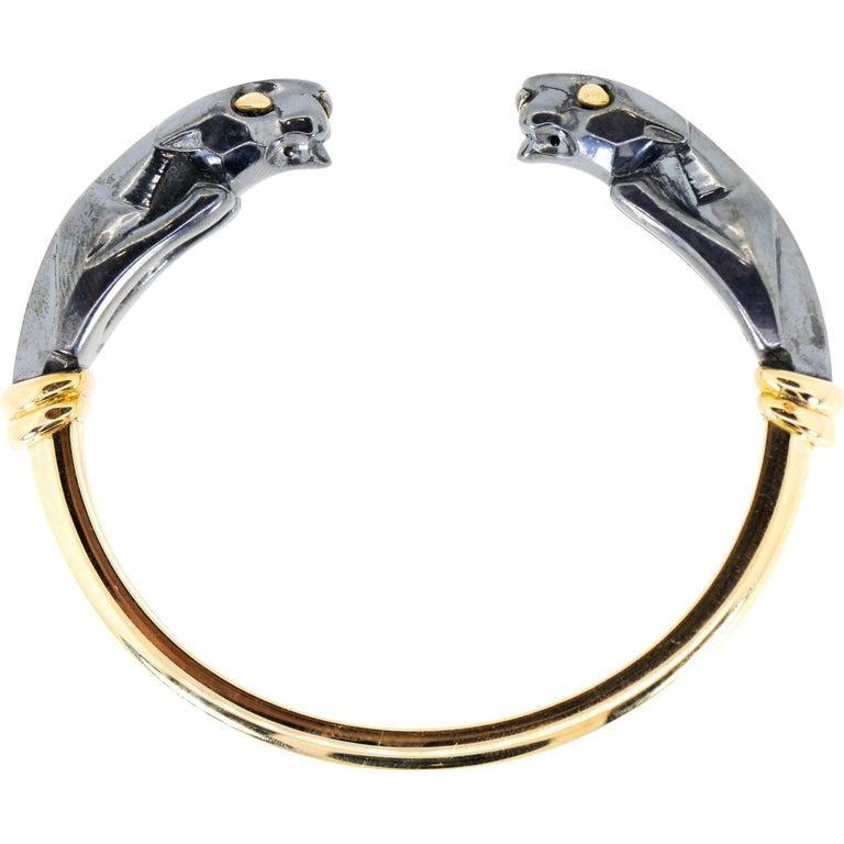Panthere de Cartier Collection Gold Bracelet For Sale