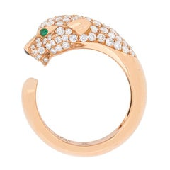 Panthere De Cartier Diamond, Emerald and Onyx Ring