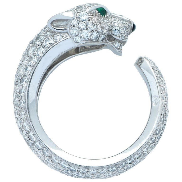 Modern Panthere de Cartier Diamond Ring For Sale