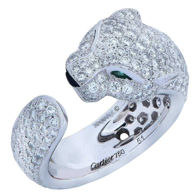 Panthere de Cartier Diamond Ring For Sale