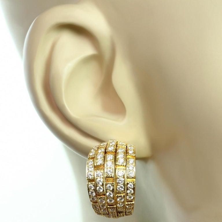 Women's Panthere de Cartier Diamond Yellow Gold Wrap Earrings For Sale