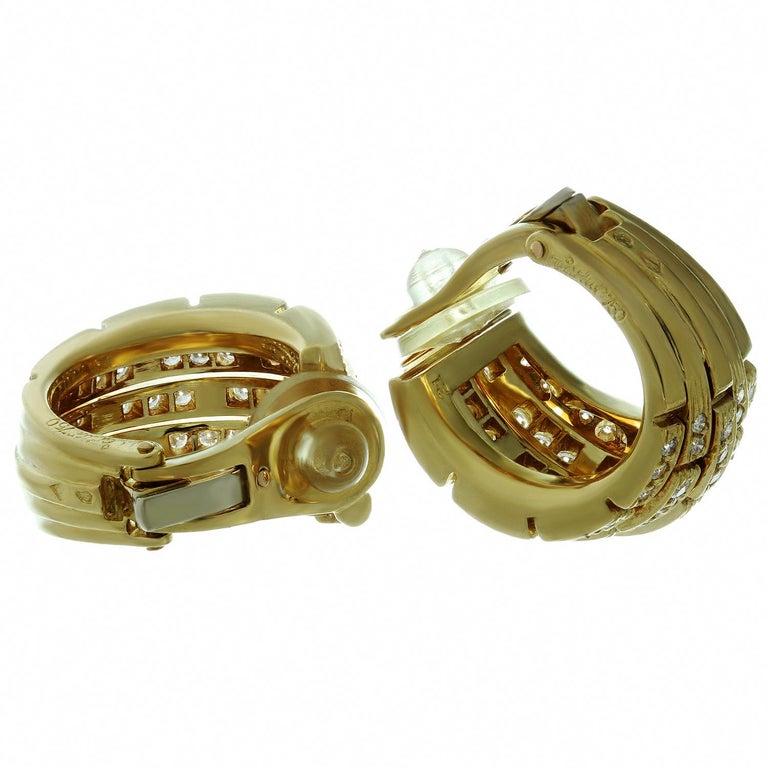 Panthere de Cartier Diamond Yellow Gold Wrap Earrings For Sale 1