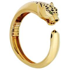 Panthère de Cartier Garnet Onyx Lacquer Yellow Gold Bangle Bracelet Box Papers