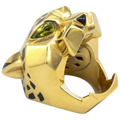 Panthere de Cartier Peridot, Onyx, 18 Karat Gold and Lacquer Ring