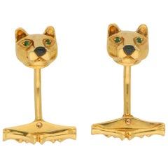 Panthère de Cartier Swivel Bar Panther Cufflinks in 18 Karat Yellow Gold