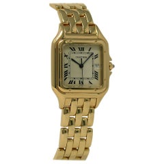 Panthere de Cartier Unisex 18 Karat Yellow Gold Watch