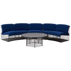 Panton Pantonova Sofa and Table Set for Fritz Hansen, Denmark, circa 1971