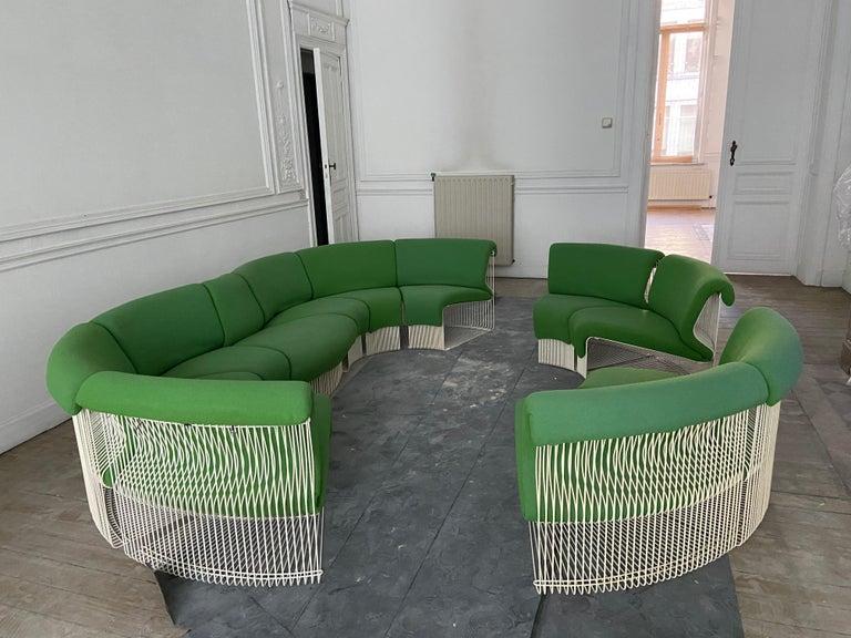 Pantonova Sofa Modules Set, Verner Panton Produced by Fritz Hansen, circa 1975 For Sale 9