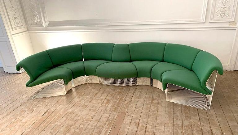Mid-Century Modern Pantonova Sofa Modules Set, Verner Panton Produced by Fritz Hansen, circa 1975 For Sale