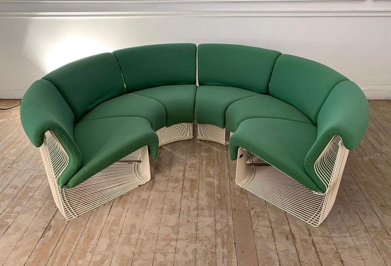 European Pantonova Sofa Modules Set, Verner Panton Produced by Fritz Hansen, circa 1975 For Sale