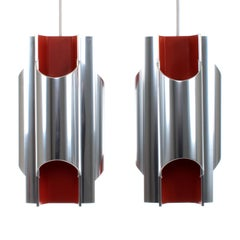 Pantre Scandinavian Modern Pendant Pair by Bent Karlby for Lyfa in 1970